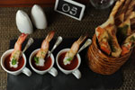 Prawns in Bloody Mary Shooters
