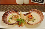 Scallops with White Wine Beurre Blanc & Truffle Oil